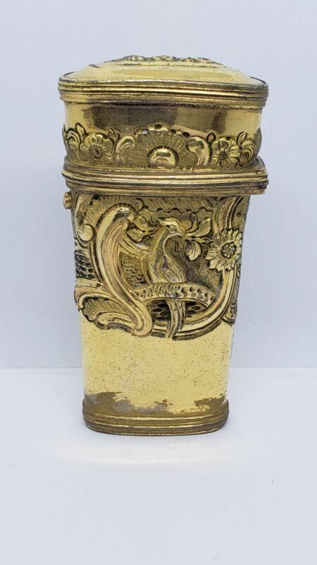 Rare Antique 18th Century Gilt Metal Etui w 11 tools
