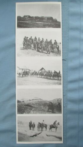 Set Of 5 Old Time Justice Manhunt Real Photo Post Cards-1900