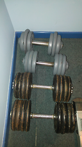 3 pairs of adjustable Dumbbells St Clair Penrith Area Preview
