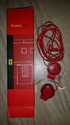 Ferrari Kopfhörer Factory Tour Scuderia Rennwagen rot Sammlerstück Italien NEU