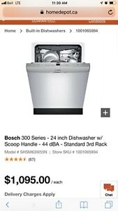 Bosch dishwasher - brand new