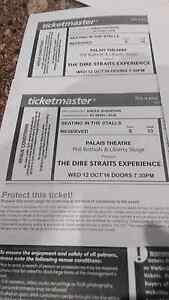 Dire Straits Experience 2 tickets Hampton Park Casey Area Preview