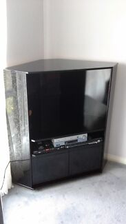 Black 2 Pack gloss Corner TV Unit West Wodonga Wodonga Area Preview