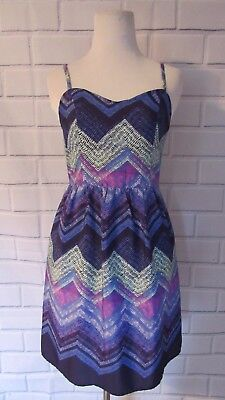 New NWT American Eagle Outfitters Sz 4 Sun Dress Purple Blue Mint Cut Out Straps Eagle Mountain Straps