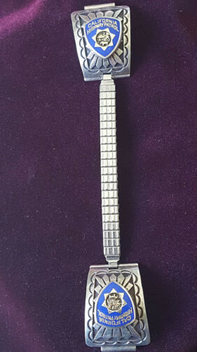 California Highway Patrol Sterling Silver Watchband Ends