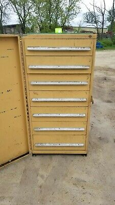 Stanley Vidmar 7 Drawer Industrial Tooling Cabinet Wswing Dr Cover 30x30x60