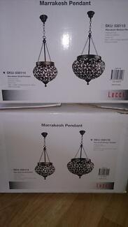 Marrakesh Medium and Small Pendant Lights Wyndham Vale Wyndham Area Preview