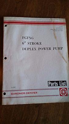 Gardner-denver Fgfxg 6 Stroke Duplex Power Pump Parts List. 3-518