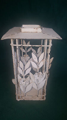 """Bird Cage Candle Holder Shabby Chic Wire/Metal Vntg. Style Home Decor Piece 10"""""""