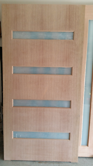 Frosted glass entrance door