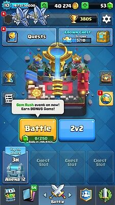 Lvl 10 Clash Royale Account 3800  Trp  79 83  11 Legends Android   Ios