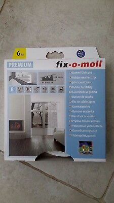 3x boxes Fix-o-Moll 6m rubber weatherstrip draught excluder in white BNIB