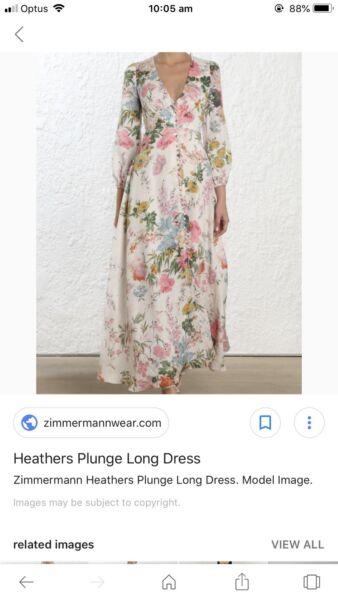 cc6f841cb4 BNWT Zimmermann Heathers Dress