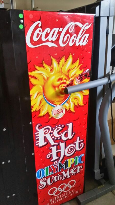 RARE 1996 Olympic Coke Machine signed by 5 Gold Medal Winners