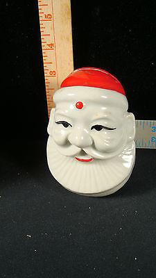 Vintage Porcelain Santa  Coin Bank