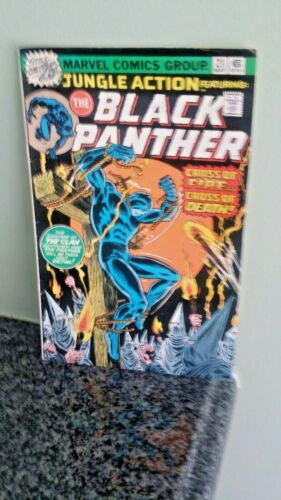 """MARVEL COMICS BLACK PANTHER #21, MAY 1976. """"CROSS OF FIRE"""""""