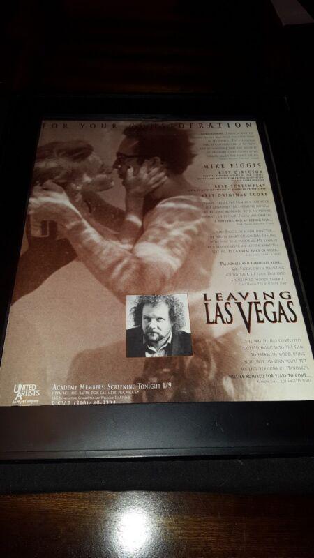 Leaving Las Vegas Nicolas Cage Academy Awards Promo Poster Ad Framed! #5