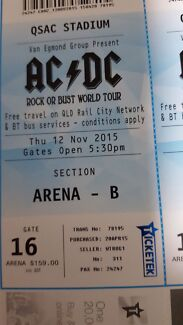 AC/DC 12th November  (6 tickets) $160 each  Caboolture South Caboolture Area Preview