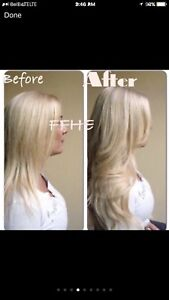 CERTIFIED HAIR EXTENSIONS!! HOT FUSION TAPE IN MICROLINK!!