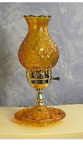 Vintage Diamond Quilt Glass Desk Lamp