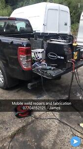 Mobile Site Welder Engineer Tig Mig Mma Pipework Steel Fab Repairs farm