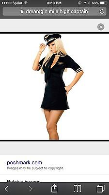 costumes Mile High Captain Original Dream Girl Size Large Only - Original Girl Costumes