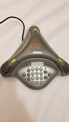 Polycom Voicestation 100 Analog Conference Phone Speaker Wall Power Tested