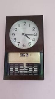 -  Vintage Electromagnetic  wall Clock -  with dates  As in pictu