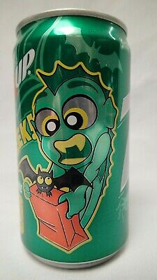 Creature From The Black Lagoon 7-UP Soda Can Halloween Bat Spider Vintage Pop