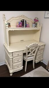 Solid wooden study table with vanity