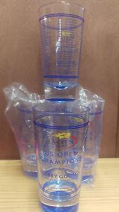 Set of 2 GREY GOOSE VODKA US OPEN 2014 GLASSES AUTHENTIC Plastic BRAND NEW