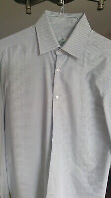 Borrelli Napoli Striped Dress Shirt 15 3/4 40