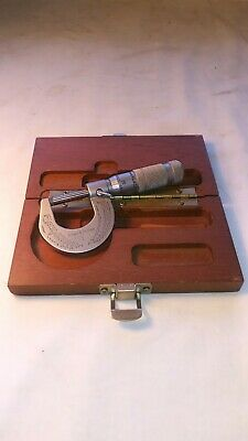 Brown Sharpe 1 No.1 0-1 Micrometer Made In Usa Kingston Ri Vintage Inv477