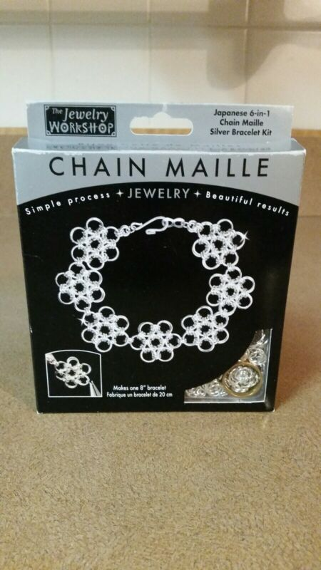 "The Jewelry Workshop Chain Maille 8"" Silver Bracelet Kit - Japanese 6-in-1 Style"