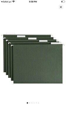 Hanging File Folders Standard Green Amazon Basics 25count