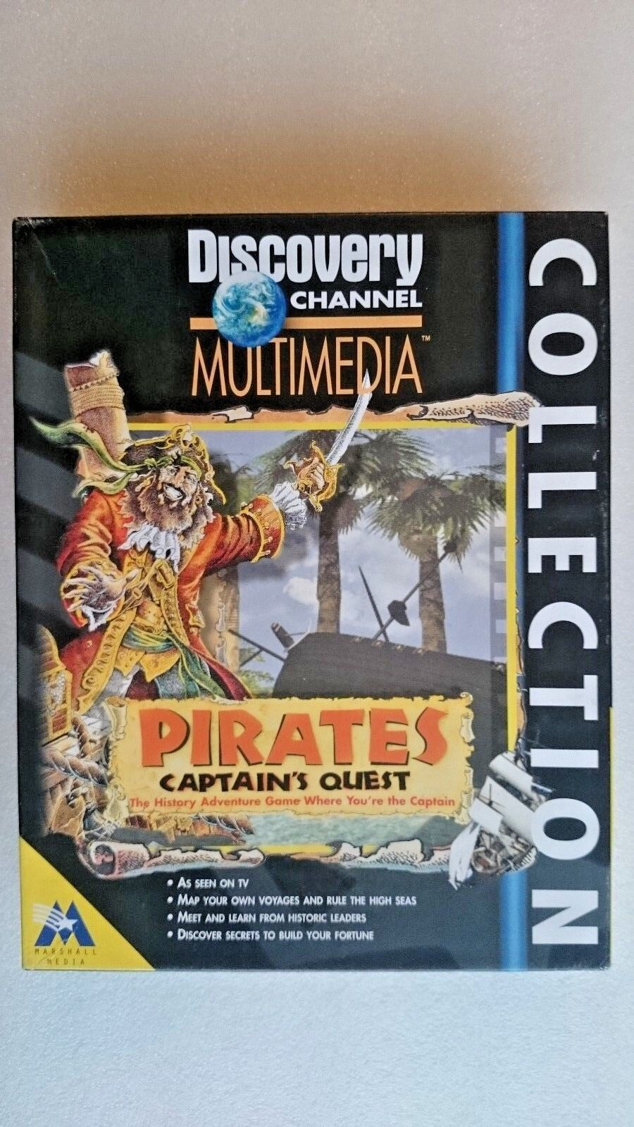 Discovery Channel Pirates Captains Quest ( PC Windows 1996) - Big Box Edition