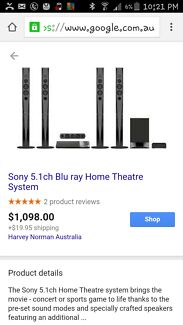 Sony BDVN9200WB 5.1ch Bluray Home Theatre System Black Angle Park Port Adelaide Area Preview