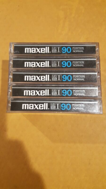 Maxell UD XL I 90 Normal Position Epitaxial USED Japan Cassette Tapes Lot of 5