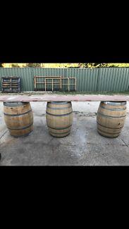 Wine bar top barrel hire $80.00  plus delivery