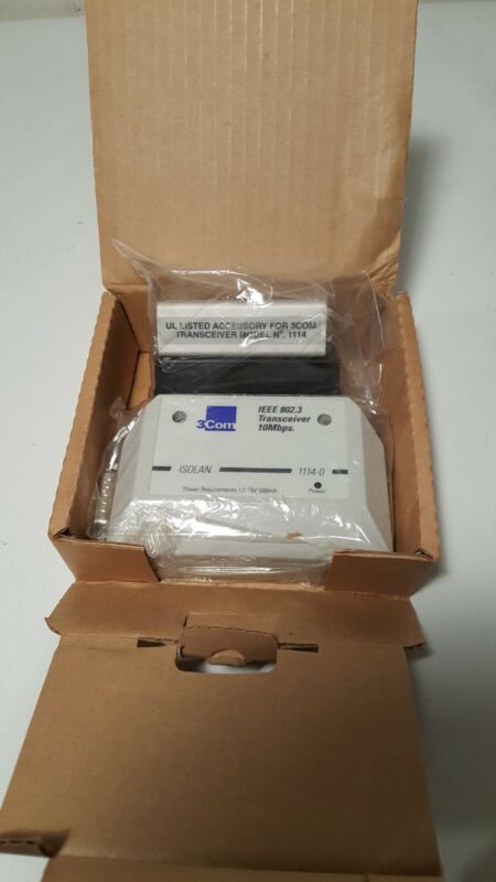 3COM Isolan 1114-0 Transceiver IEEE 802.3 10Mbps New/Old Stock