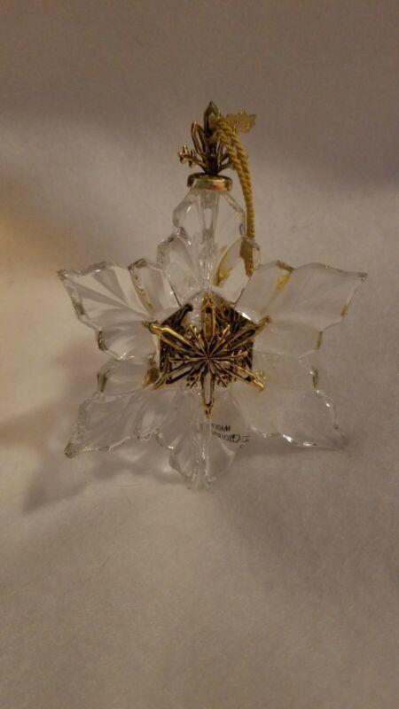 Gorham Millenium Crystal Snowflake Ornament NIB