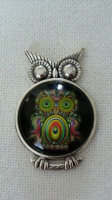 Metal Magnetic Needle Minder Keeper Owl Ornament #N95