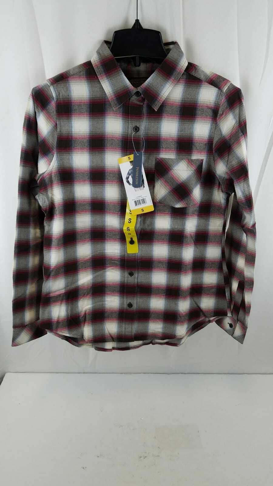 Pendleton Women's Frankie Flannel Long Sleeve Shirt Brown/Re