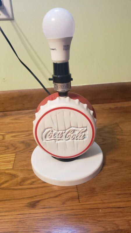 Coca Cola Bottle Cap Table Desk Lamp 1997