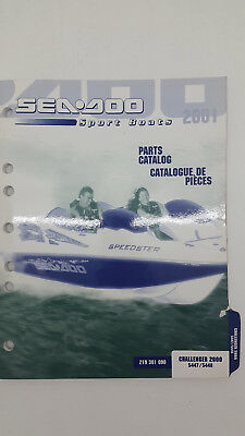 Sea Doo Sport Boats CHALLENGER 2000 5447 5448 Factory Parts List. January 2001