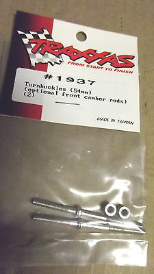 2 TRAXXAS # 1937 ,TURN BUCKLES (54MM)OPTIONAL FRONT CAMPER RODS(2)MADE IN TAIWAN