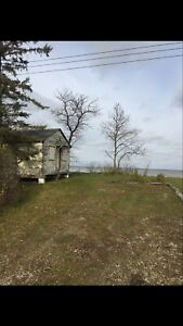 Ice Fishing - waterfront lot for sale