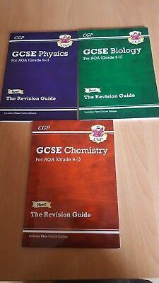 Grade 9-1 GCSE AQA Revision guides Biology Physics Chemistry 3 Books Set