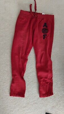 Abercrombie and Fitch red sweatpants