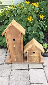 Various planter boxes and bird houses